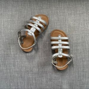 GAP Kids Silver Leather Gladiator Sandals Size 9